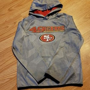 NFL 49ers hoodie size S grey/red